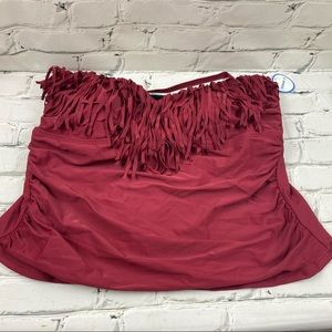 NWT swimsuits for all fringed bathing suit top